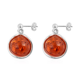 Baltic Amber (Rnd) Earrings in Sterling Silver