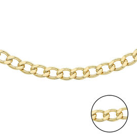 Hatton Garden Close Out 9K Yellow Gold Curb Necklace (Size 18) Gold Wt 3.70 Grams