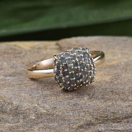 9K Yellow Gold Narsipatnam Alexandrite (Rnd) Cluster Ring 1.500 Ct.