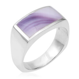 Mother of Pearl Ring in Sterling Silver 6.31 Grams