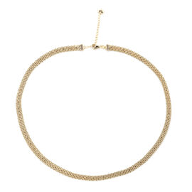 Royal Bali Collection 9K Yellow Gold Necklace (Size 18 with 2 inch Extender).Gold Wt 6.80 Gms
