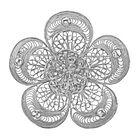 Royal Bali Filigree Floral Brooch or Pendant in Silver 7.06 grams