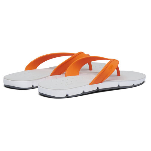 Swims Breeze Mens Flip Flop Sandals (Size 8) - Orange, White and Grey
