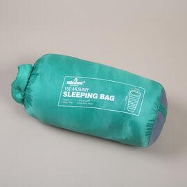 Mummy Sleeping Bag in Green & Grey - Single - 2 Seasons (210x52x72 Cm)