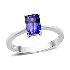 RHAPSODY 950 Platinum AAAA Tanzanite Solitaire Ring 1.15 Ct.