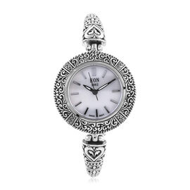 Super Auction- Royal Bali Collection EON 1962 Swiss Movement Sterling Silver Water Resistant Watch (