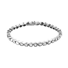 Artisan Crafted Polki Diamond Bracelet (Size 7) with Box Clasp in Sterling Silver 2.00 Ct, Silver wt