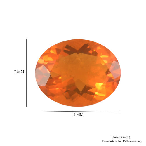 AAA Fire Opal Oval 9x7 Faceted 1.10 Cts