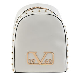 19V69 ITALIA by Alessandro Versace Backpack Bag with Zipper Closure (Size 38x10x30Cm) - White