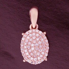 9K Rose Gold Pink Diamond Pendant 0.250 Ct.