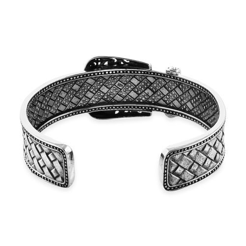 Sterling Silver Buckle Cuff Bangle (Size 7.25), Silver wt 40.00 Gms