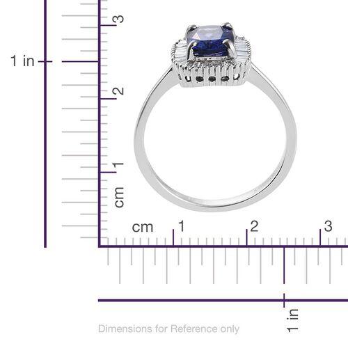 RHAPSODY 950 Platinum AAAA Tanzanite and Diamond (VS/E-F) Ring 2.25 Ct, Platinum wt 5.00 Gms