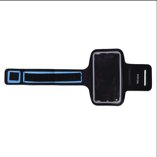 Wesdar Sport Armband with Touch Screen Window and Headphone Outlet in Black