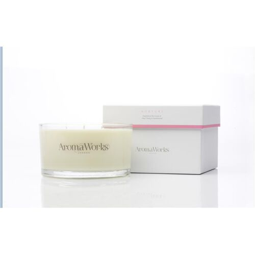 AromaWorks: Large Nuture 3 Wick Candle - 400g