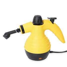 Multi-Purpose Steam Cleaner with Nine Accessories - Yellow and Black