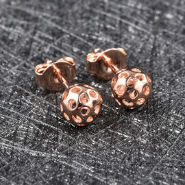 RACHEL GALLEY Globe Collection - Rose Gold Overlay Sterling Silver Stud Earrings (with Push Back)
