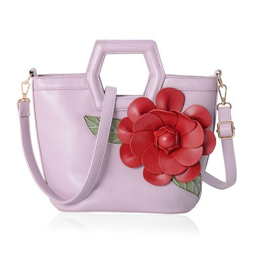 Designer Inspired - 3D Adones Flower Pink Colour Hand Bag