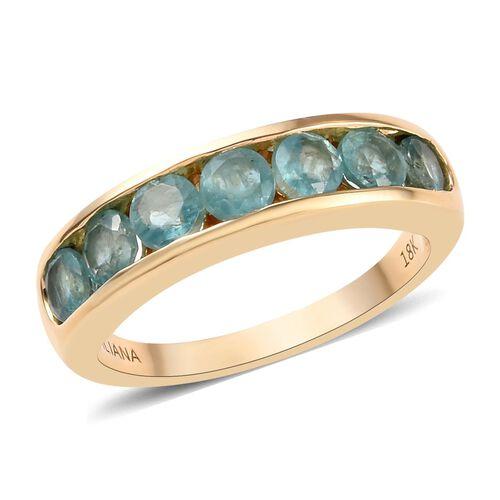 ILIANA 1.50 Ct AAA Grandidierite Eternity Band Ring in 18K Gold 4.50 Grams