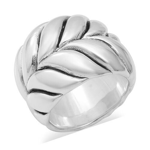 Braided Band Ring in Sterling Silver 6.50 Grams