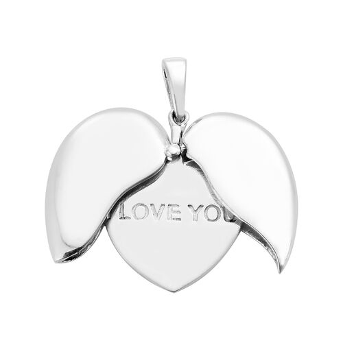 Designer Inspired- Sterling Silver Heart Pendant, Silver wt 5.83 Gms.