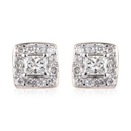 9K Yellow Gold SGL Certified Diamond (I3/G-H) Stud Earrings 0.25 Ct