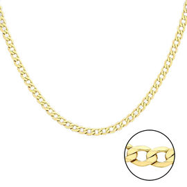 Hatton Garden Close Out Deal- 9K Yellow Gold Curb Necklace  (Size 18), Gold wt 9.56 Gms
