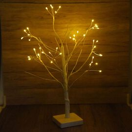 45cm Tall Tree with Warm Lights - Firework Ball (3xAA Battery Not Included)