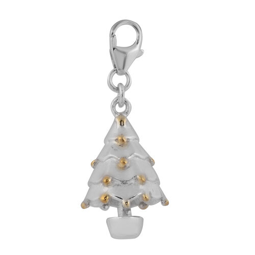 Charms De Memoire - Platinum Overlay Sterling Silver Bell Tree Charm