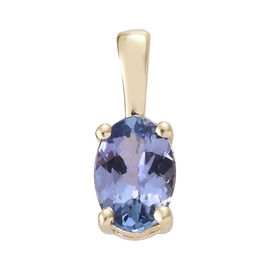 9K Yellow Gold AA Tanzanite (Ovl 6x4 mm) Pendant 0.500 Ct.
