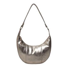 ASSOTS LONDON Layla Genuine Pebble Grain Leather Hobo Shoulder Bag - Rose Gold