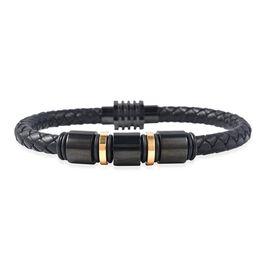 Genuine Braided Leather Bracelet (Size 7.5)