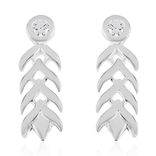 J Francis Sterling Silver Dangling Earrings (with Push Back) Made with SWAROVSKI ZIRCONIA