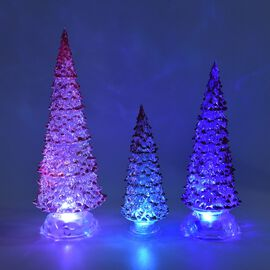 Monster Deal - Set of 3  - Decorative Multicolour Light Changing Tree with Three Different Sizes - R