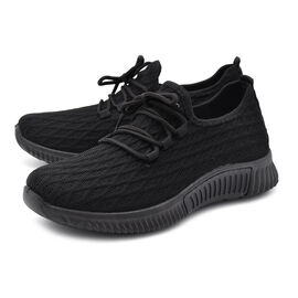 Black Knit Womens Trainers