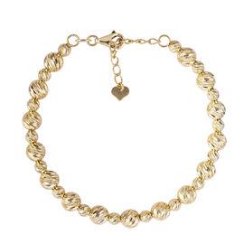 Royal Bali Collection - 9K Yellow Gold Beads Bangle (Size 7.25), Gold wt 5.87 Gms