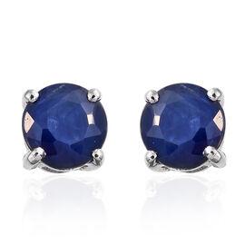 RHAPSODY 1.40 Ct AAAA Kanchanburi Blue Sapphire Stud Earrings in 950 Platinum (with Screw Back)