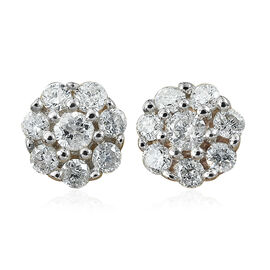 9K Yellow Gold SGL CERTIFITED Diamond (Rnd) (I3/G-H) Earrings (with Push Back) 0.250 Ct.