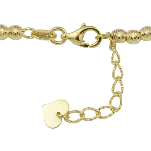 Hand Made - 9K Yellow Gold Diamond Cut Necklace (Size 17 with 1 inch Extender), Gold wt. 7.80 Gms