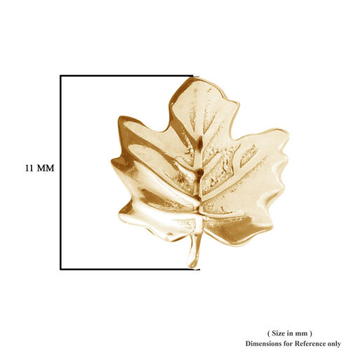 Maple Leaf Earrings for Kids in Gold Plated Silver