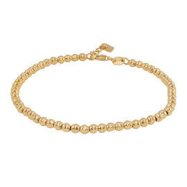 9K Yellow Gold Sparkle Bead Bracelet (Size 7 with Extender), Gold wt 3.20 Gms