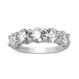 14K White Gold White Certified Diamond (I1-I2/G-H) Ring 2.00 Ct.