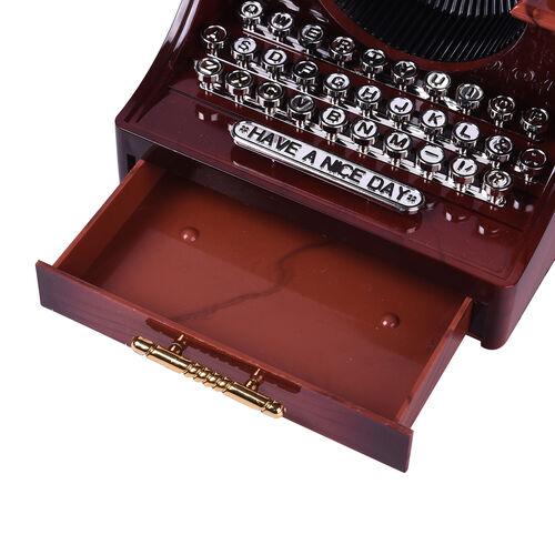 Home Decor Antique Typewriter Musical Jewellery box (Size 14x16x11cm)