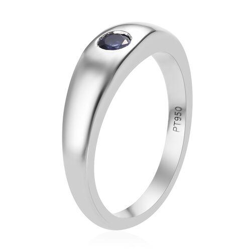 RHAPSODY 950 Platinum AAAA Tanzanite (Rnd) Ring, Platinum wt 7.24 Gms.