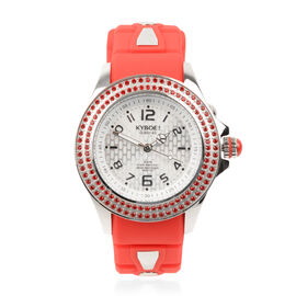 KYBOE Radiant Collection Japanese Movement 100M Water Resistant Passion LED Watch in Stainless Steel