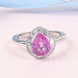 RHAPSODY 950 Platinum AAAA Pink Sapphire and Diamond (VS/E-F) Ring 1.74 Ct.