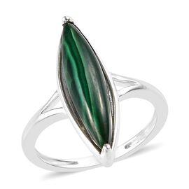 4.25 Ct Malachite Solitaire Ring in Silver