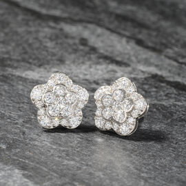RHAPSODY 950 Platinum IGI Certified Diamond (Rnd) (E-F/VS) Stud Earrings (with Screw Back) 1.50 Ct.