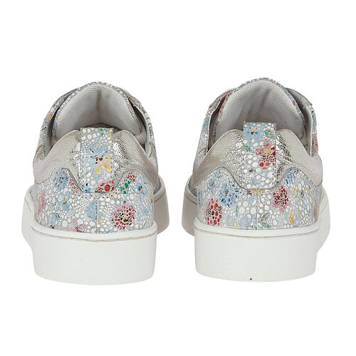 Lotus Stressless Leather Garda Lace-Up Trainers (Size 3) - Multi Floral