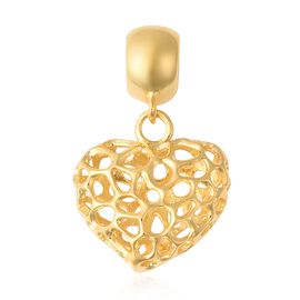 RACHEL GALLEY Yellow Gold Overlay Sterling Silver Amore Heart Charm or Pendant
