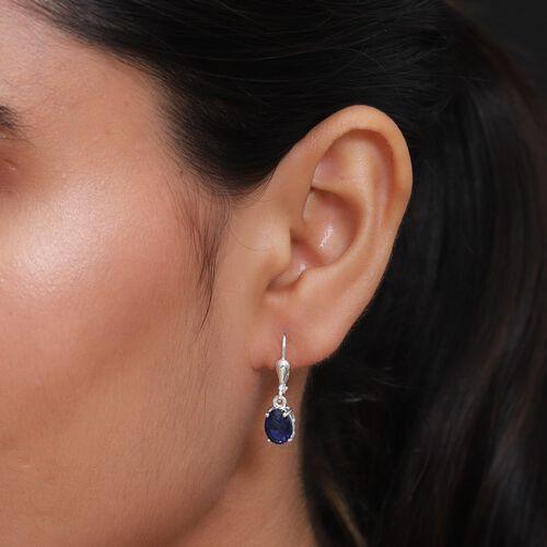 Ceylon Colour Quartz (Ovl) Lever Back Earrings in Sterling Silver 2.750 Ct